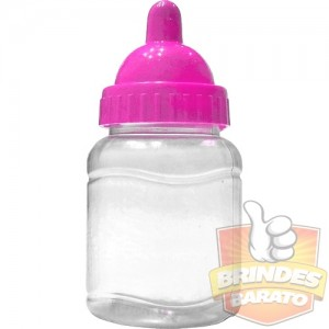 Mini Mamadeira 50ml Bico PINK